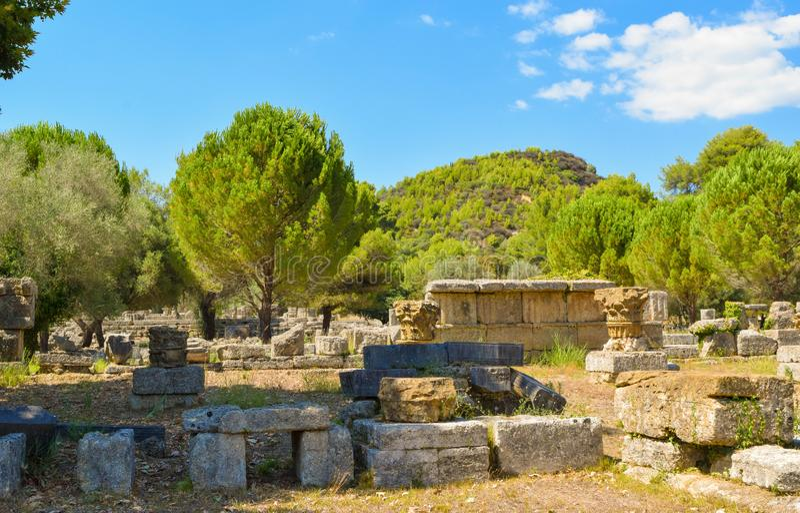 Oude Olympia, Griekenland royalty-vrije stock fotografie