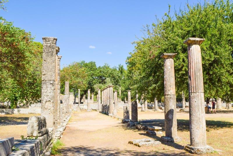 Oude Olympia, Griekenland royalty-vrije stock afbeeldingen