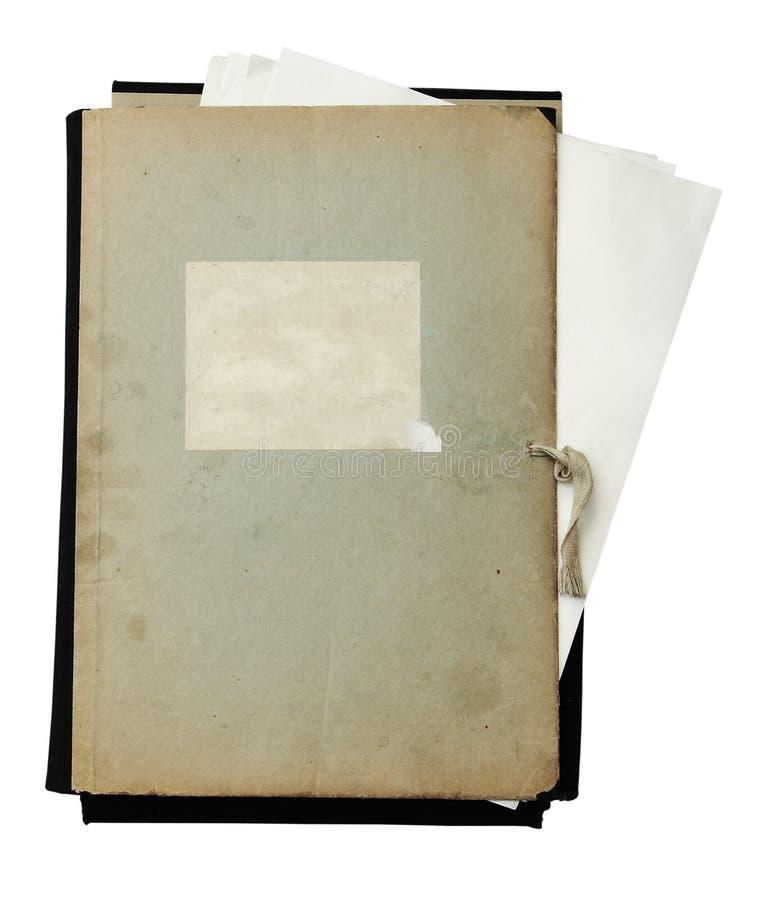 Download Oude Omslag Met Stapel Documenten Stock Afbeelding - Afbeelding bestaande uit leeg, envelop: 10779401