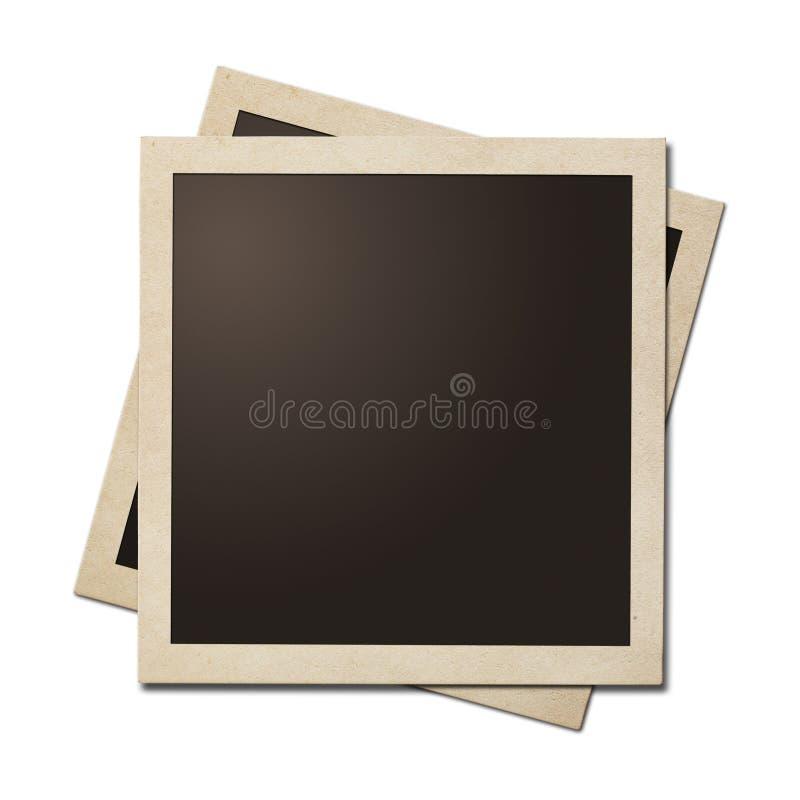 Oude onmiddellijke geïsoleerde foto eenvoudige kaders Het knippen van weg zonder schaduwen is inbegrepen stock afbeelding