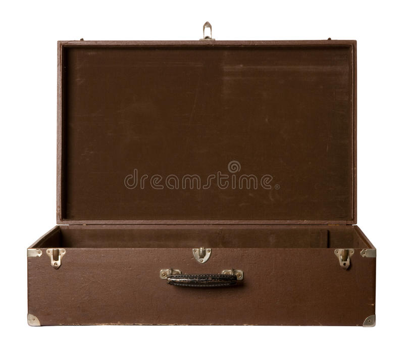 Oude open koffer royalty-vrije stock foto