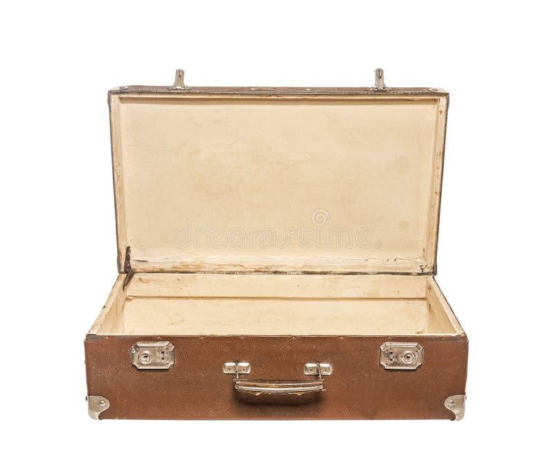 Oude open Koffer stock foto's
