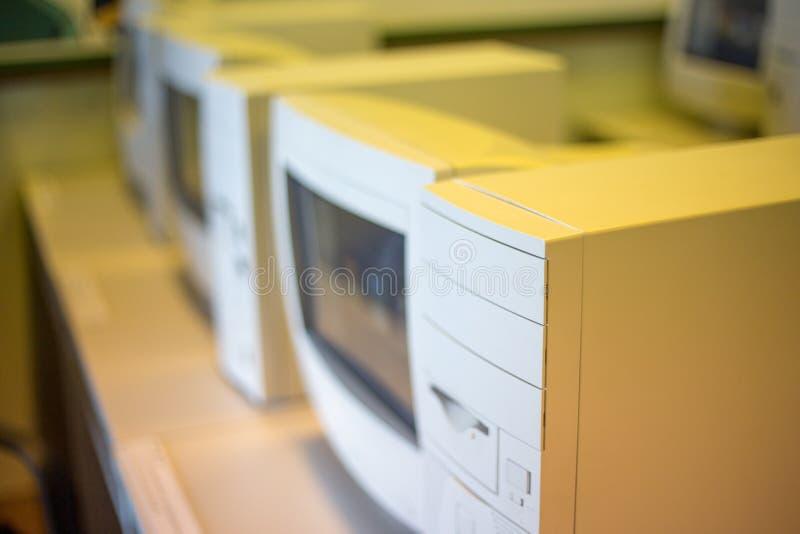 Oude originele computer of PC stock fotografie