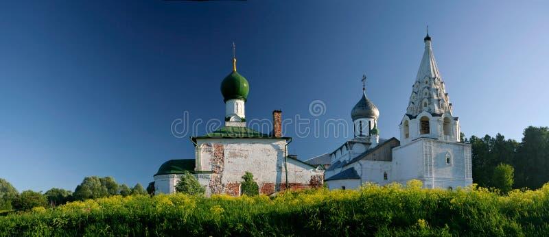 Oude orthodoxe kerk stock foto's