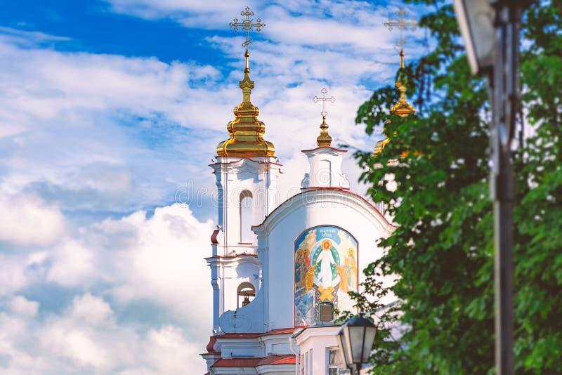 Oude orthodoxe kerk in Vitebsk, Wit-Rusland, Europa royalty-vrije stock fotografie