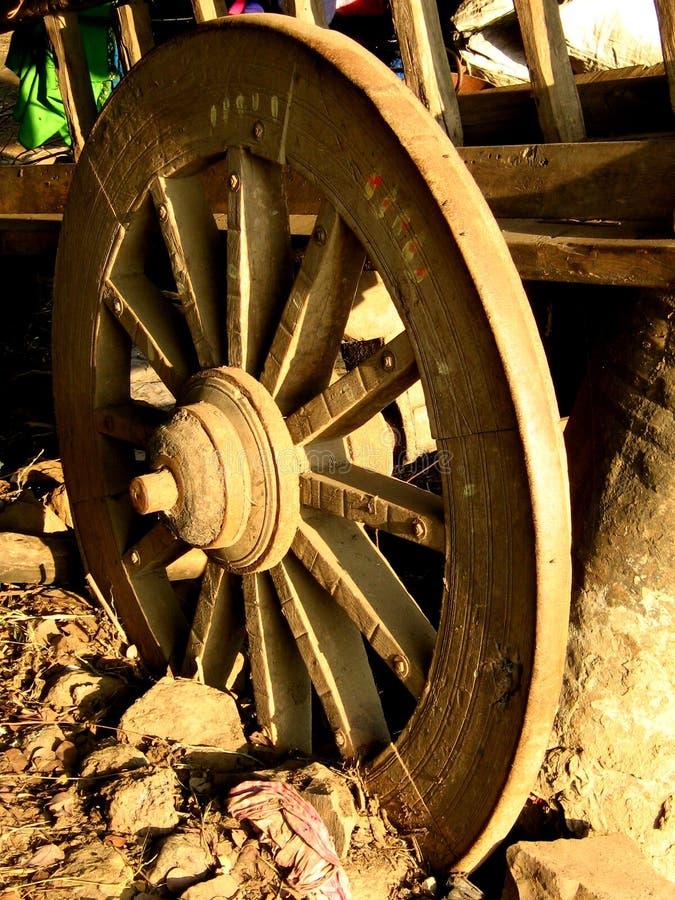 Oude Ossewagen stock foto's
