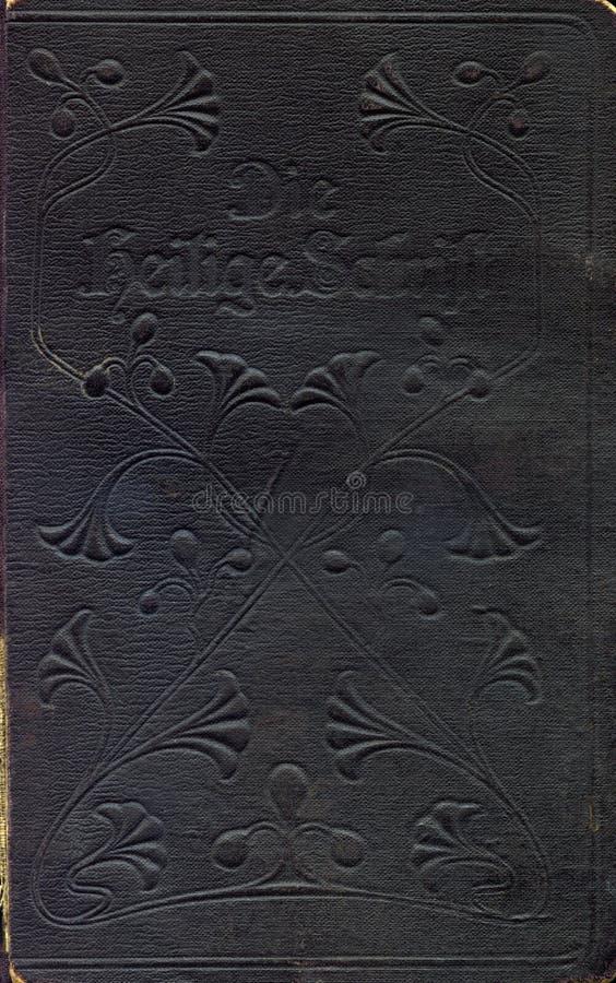 Oude oude bijbeldekking royalty-vrije stock afbeelding