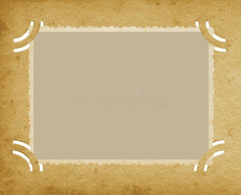 Oude Oude Horizontale Randfoto in het Geweven Uitstekende Retro Album van Grunge, Lege Lege Bevlekte de Paginaachtergrond van de  vector illustratie