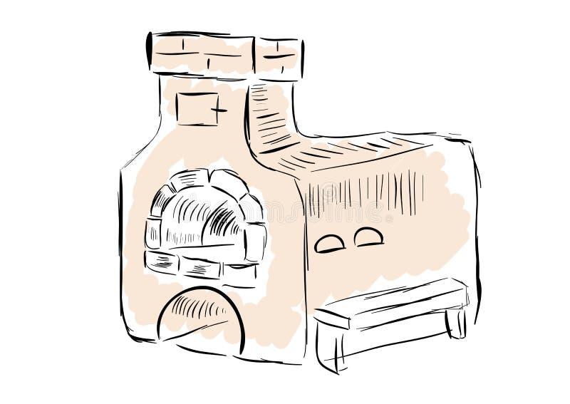 Oude oven royalty-vrije illustratie
