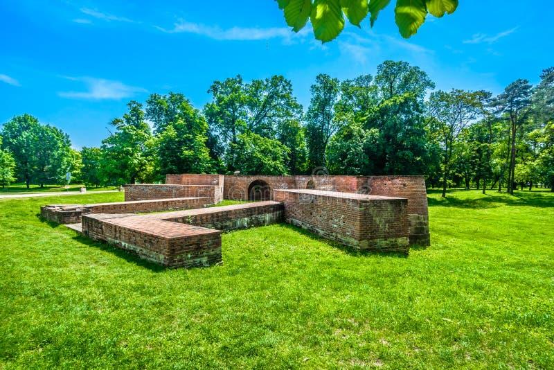 Oude overblijfselen in Cakovec, Kroatië royalty-vrije stock afbeelding