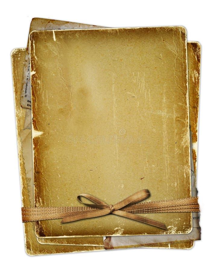 Oude pagina met linten en boog vector illustratie