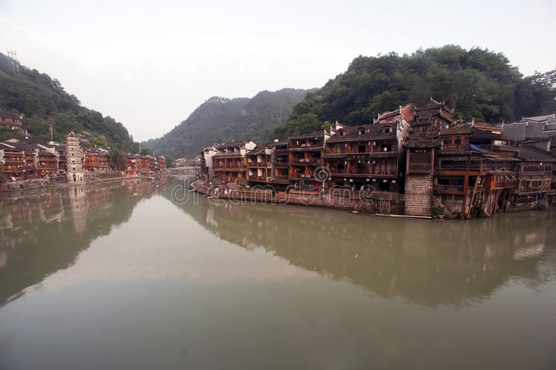 Oude Pagode in de oude stad van Fenghuang royalty-vrije stock foto
