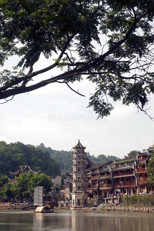 Oude Pagode in de oude stad van Fenghuang royalty-vrije stock fotografie