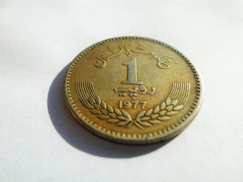 Oude Pakistani Één rupee1977 stock foto's