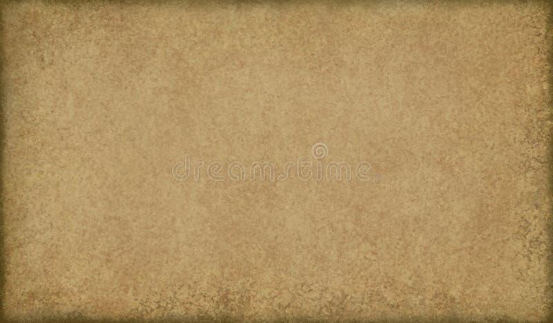 Oude pakpapierachtergrond met zwarte gebrande randen en gerimpelde grunge textuur, uitstekend achtergrondontwerp royalty-vrije stock afbeeldingen