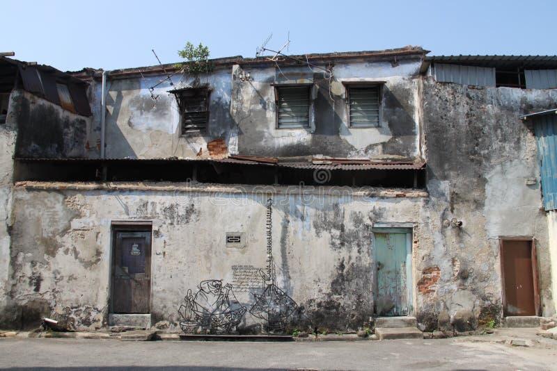 Oude Penang-Huizen stock fotografie
