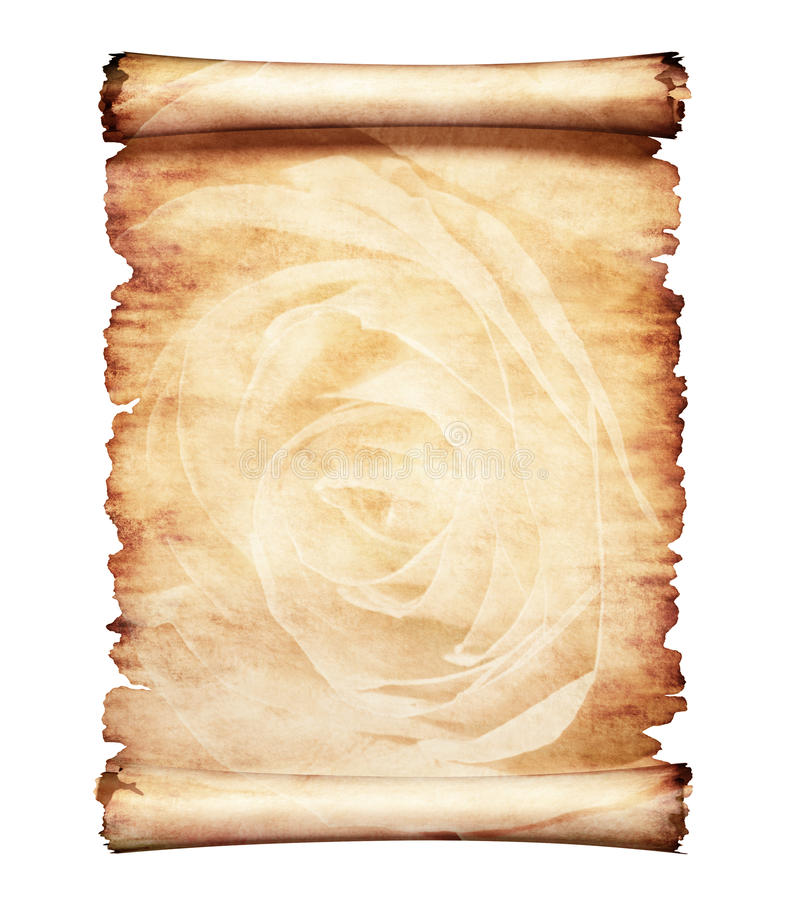 Oude Perkament Romantische Document Achtergrond vector illustratie
