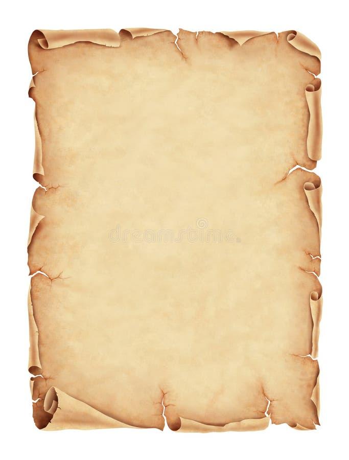 Oude perkamentdocument illustratie royalty-vrije illustratie