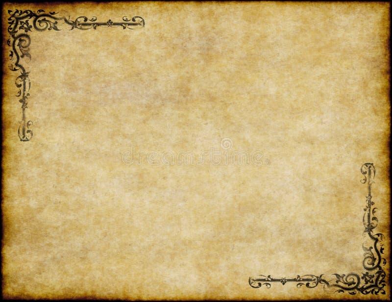 Oude perkamentdocument textuur vector illustratie