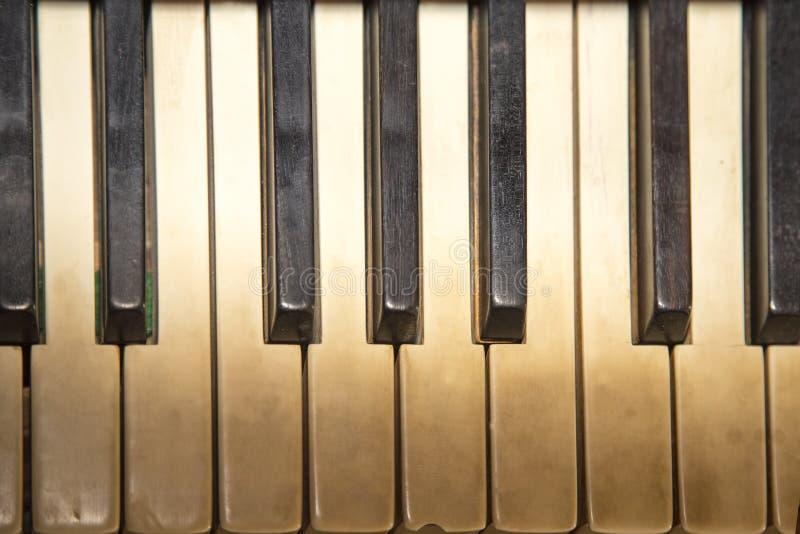 Oude pianosleutels royalty-vrije stock afbeeldingen