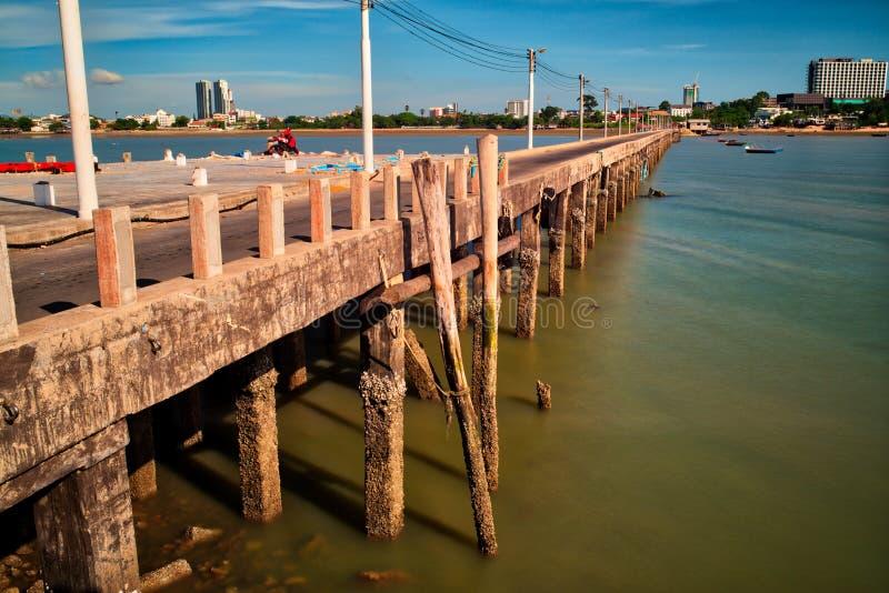 Oude Pier, Pattaya, Thailand royalty-vrije stock foto's