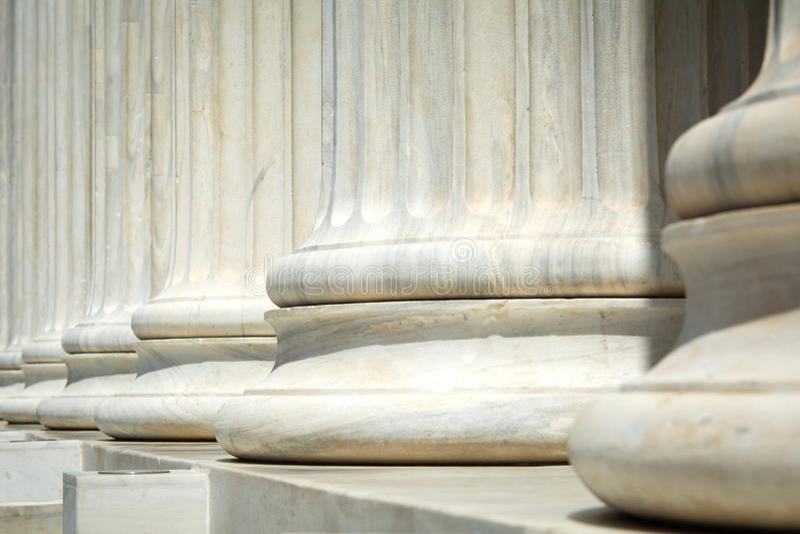 Oude pijlers royalty-vrije stock afbeeldingen