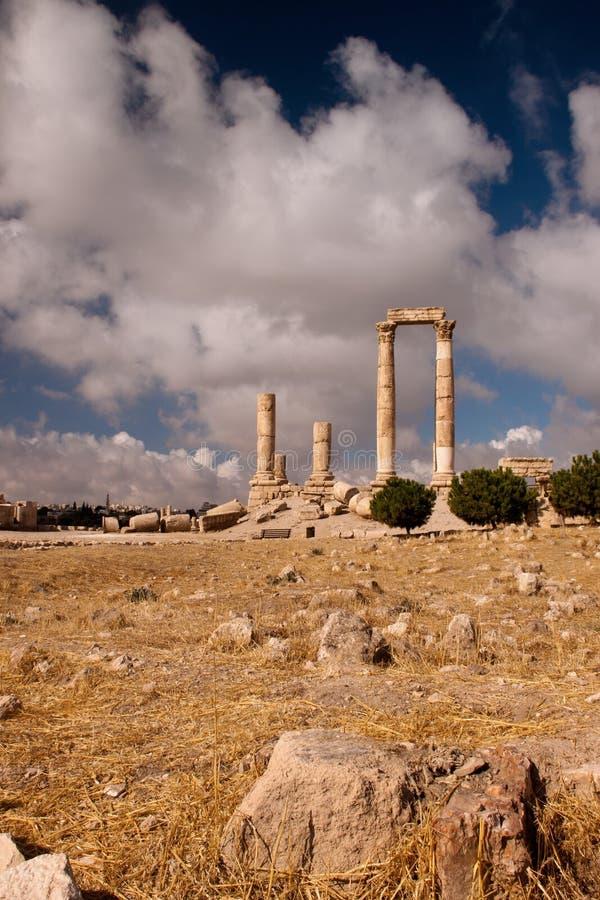 Oude Pijlers van Hercules stock afbeelding