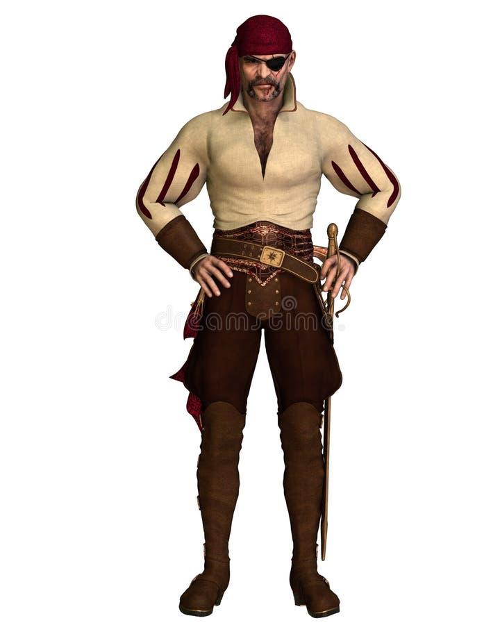 Oude Piraat vector illustratie