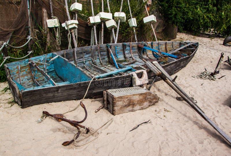 Oude piraatboot royalty-vrije stock foto