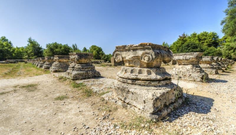 Oude plaats van Olympia, Griekenland royalty-vrije stock afbeelding