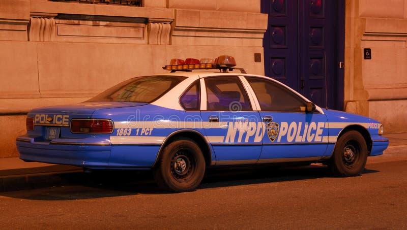 Oude Politiewagen in de Stad van New York stock foto