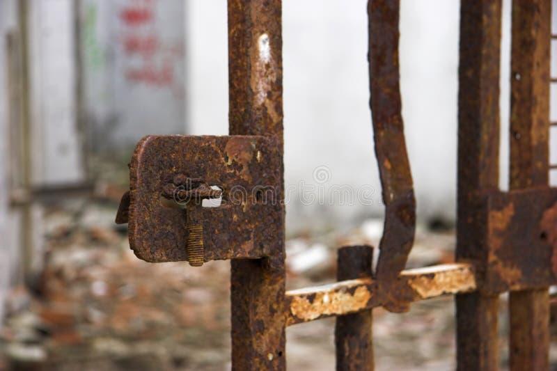 Oude poort stock afbeelding