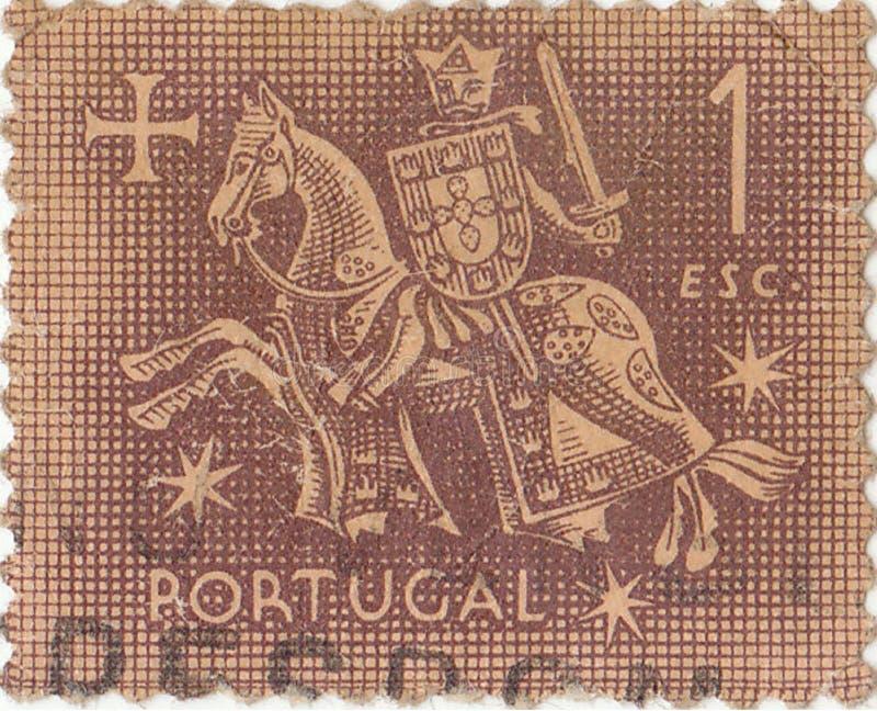 Oude Portugese postzegel royalty-vrije stock afbeeldingen