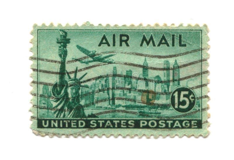 Oude postzegel van de V.S. 15 centen royalty-vrije stock afbeelding
