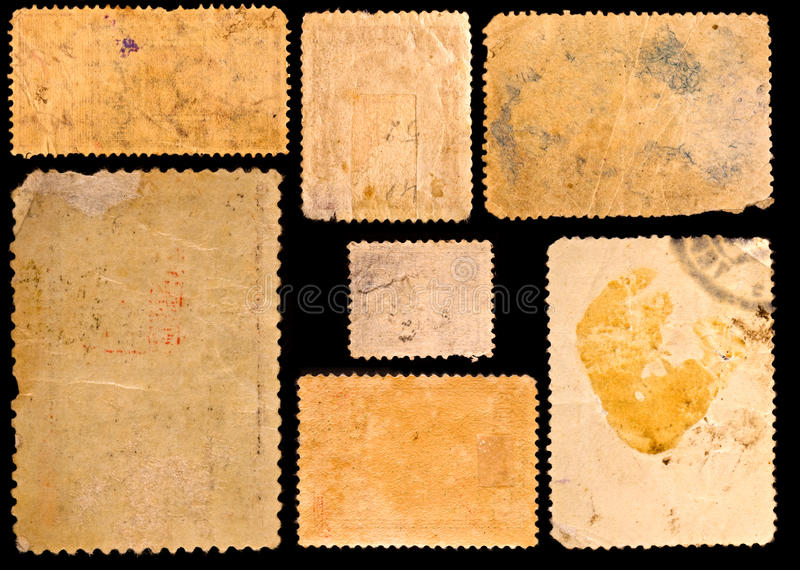 Oude postzegels stock foto