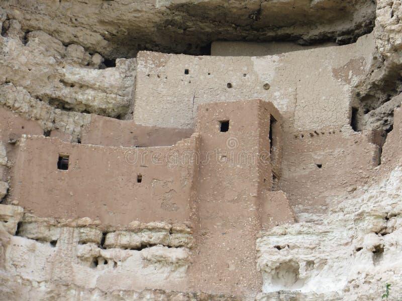 Oude pre-columbian klippenwoningen in Arizona royalty-vrije stock fotografie