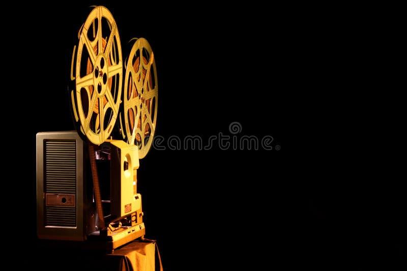 Oude Projector met de Ruimte van het Exemplaar stock afbeelding