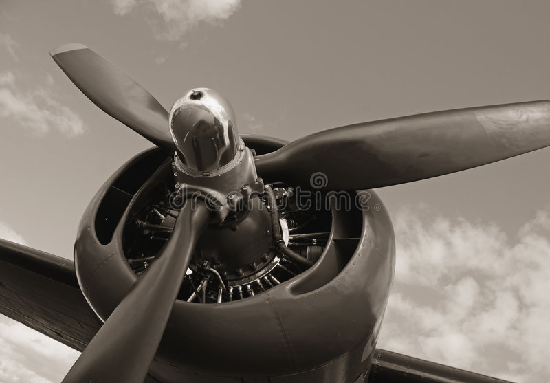 Oude propeller royalty-vrije stock foto