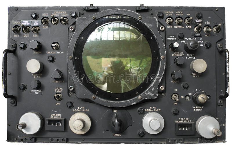 Oude Radar royalty-vrije stock foto's
