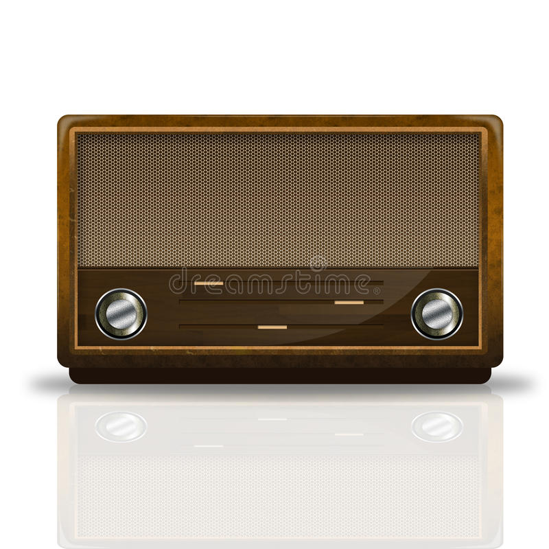 Oude radio stock illustratie
