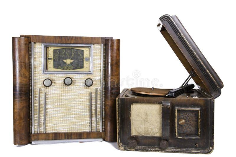 Oude radio's royalty-vrije stock fotografie