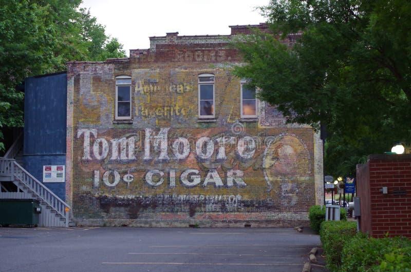 Oude reclameschilderijen in Heet de Lentes Nationaal Park, Arkansas, de V.S. royalty-vrije stock afbeelding