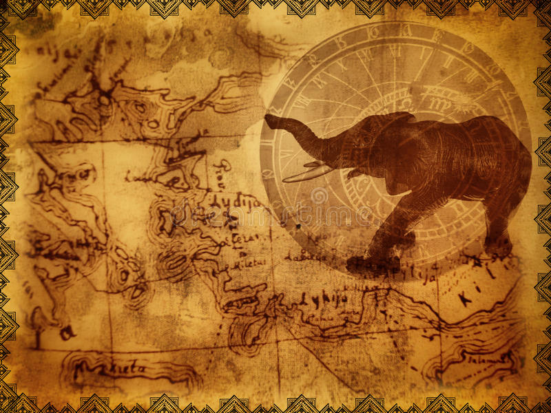 Oude reisachtergrond royalty-vrije stock afbeelding