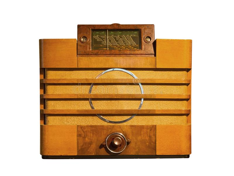 Oude retro radio royalty-vrije stock foto