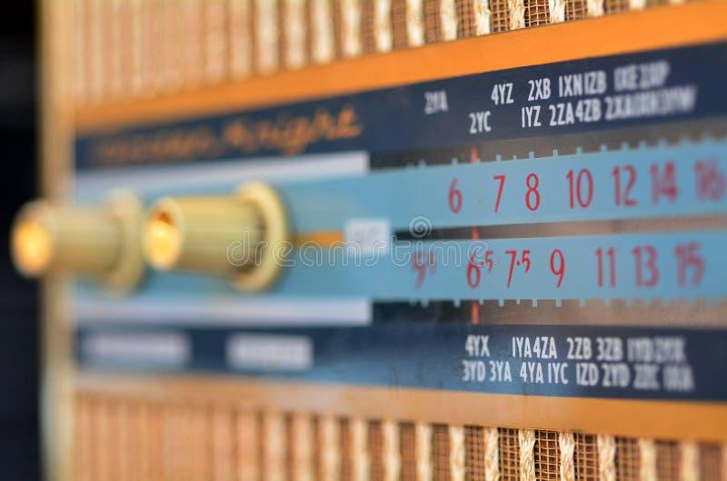 Oude retro radio stock foto