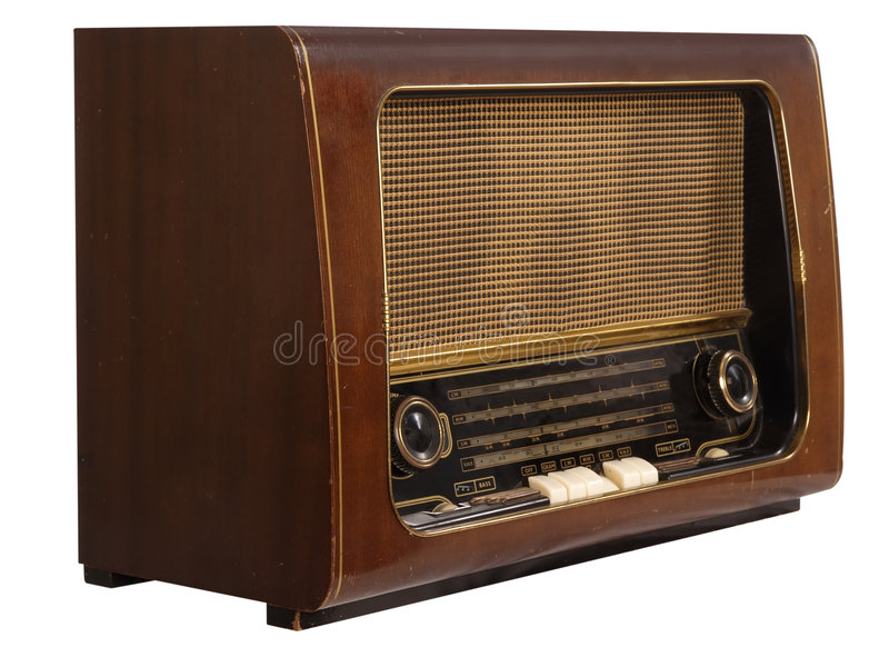 Oude retro radio royalty-vrije stock foto's