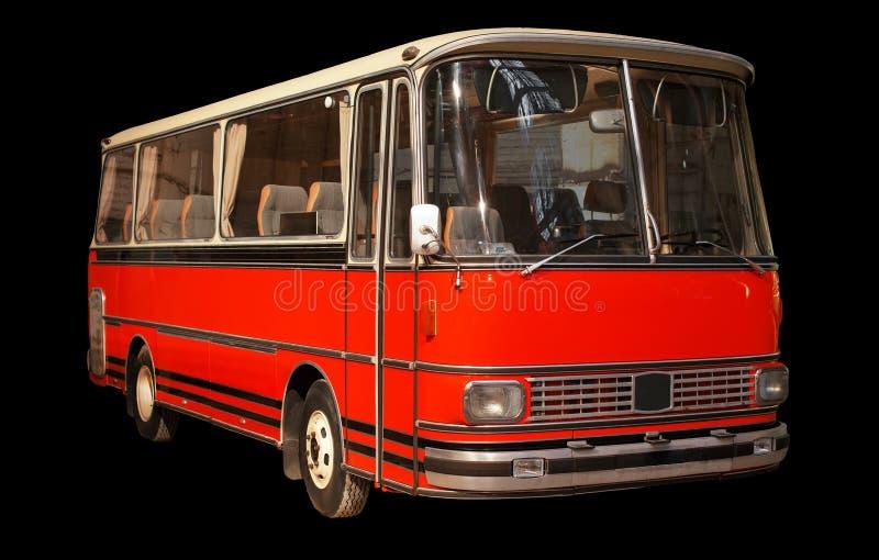 Oude retro rode bus royalty-vrije stock fotografie