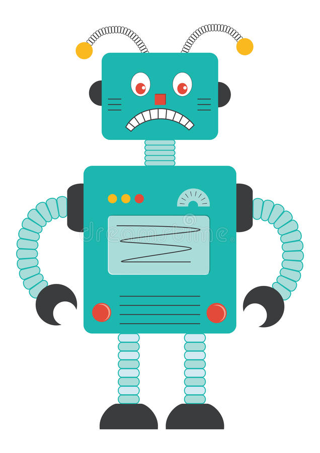 Oude Robot royalty-vrije stock afbeelding