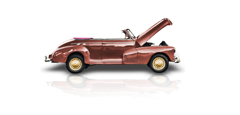 oude rode cabriolet auto royalty-vrije stock fotografie