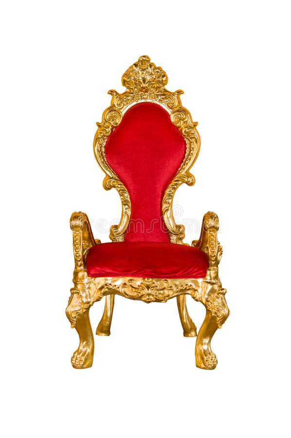 Oude rode stoel stock foto's